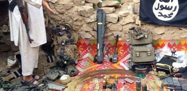 Islamic State equipment seized after raid in eastern Homs