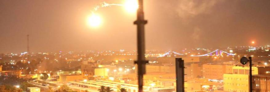 Rocket slammed near a complex with US soldiers and diplomats in Baghdad