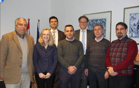 Dutch officials pictured with Palestinian terrorist involved in the death of 17-year-old Rina Schnerb