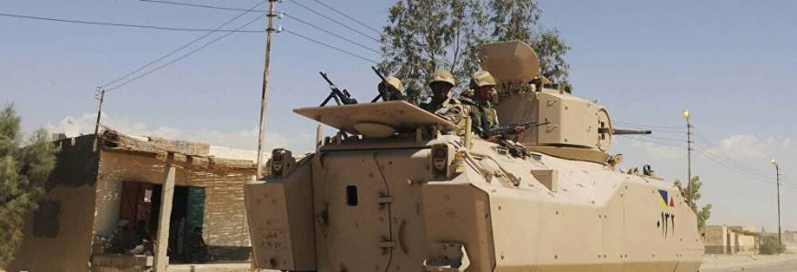 Egyptian military thwarted terrorist attack and killed 18 militants in northern Sinai