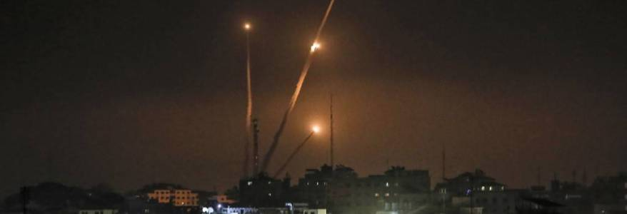 Hamas terrorists fired volley of rockets into sea in warning against annexation