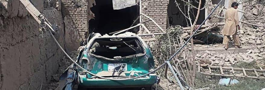 At least three people dead and 41 injured in Taliban truck bomb attack in Afghanistan