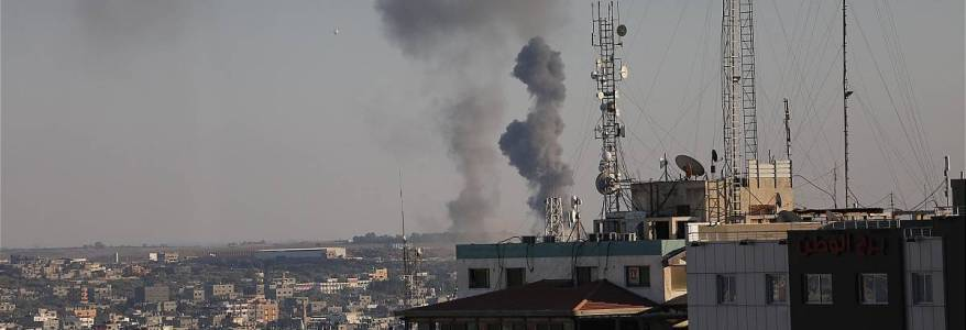 Israeli military forces hits Hamas terrorist group positions in Gaza