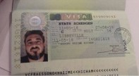 GFATF - Hicham Hazime with his Gabonese passport and his European visa2