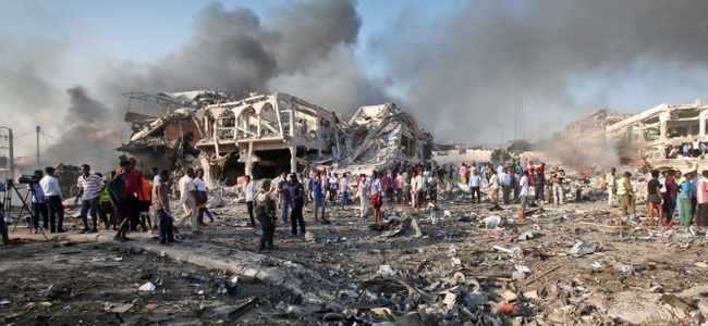 Suicide bomber killed seven people in attack on restaurant in Mogadishu