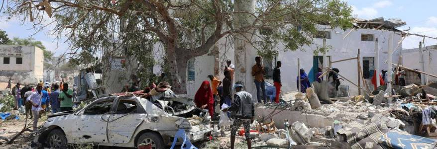 Three people killed in suicide attack outside mosque in Somalia