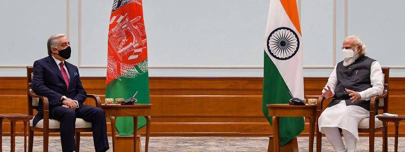 Head of Afghan peace council Abdullah briefed the Indian Prime Minister Modi on talks with Taliban
