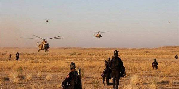 Iraqi army forces target Islamic State positions in the Kirkuk province