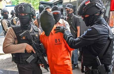 Indonesian police authorites arrested terrorist suspect in West Java