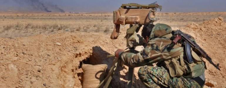 Landmine explosion killed three Syrian soldiers in the Al-Mayadeen desert