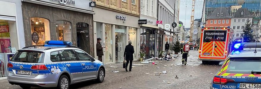 Car drove into pedestrians in the city of Trier killing at least four people including a young girl