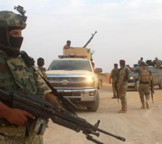 GFATF - LLL - Policeman injured in an Islamic State terror attack in Diyala