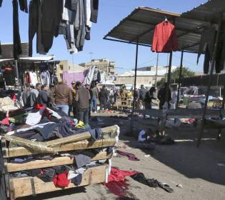 GFATF - LLL - Twin suicide bombing in crowded Baghdad market kills at least 28 people
