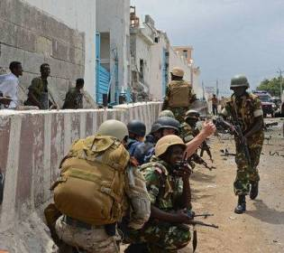 GFATF - LLL - Three people killed and five other wounded after a barrage of mortars targeted the headquarters of the UN in Mogadishu