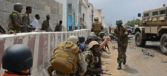 Three people killed and five other wounded after a barrage of mortars targeted the headquarters of the UN in Mogadishu