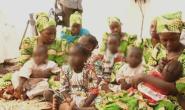 Women and children escape from Boko Haram terrorist group captivity in Nigeria