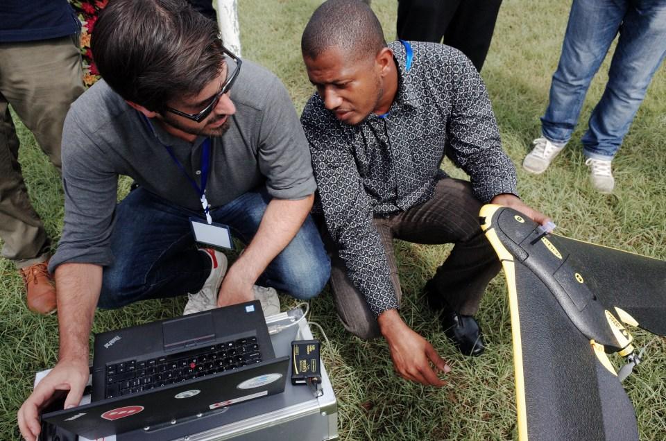 drone in the field