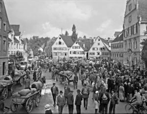 Alter Postplatz nach Norden. 1934