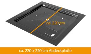 GFK-Abdeckplatte 220 x 220 cm
