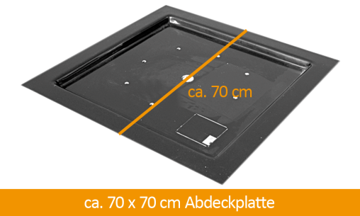 GFK-Abdeckplatte 70 x 70 cm