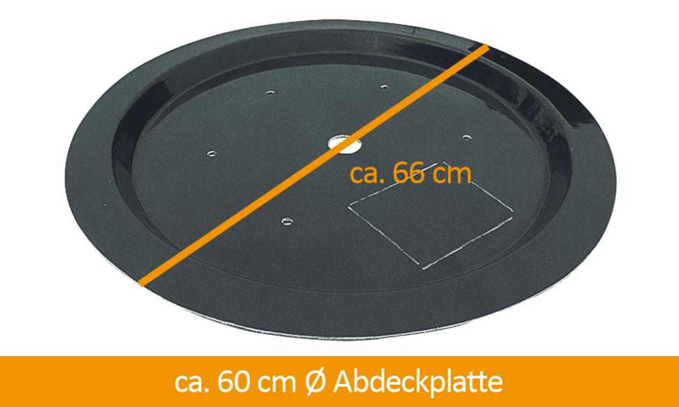 Beckenabdeckung rund 60 cm