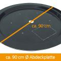 GFK-Abdeckung 90 cm