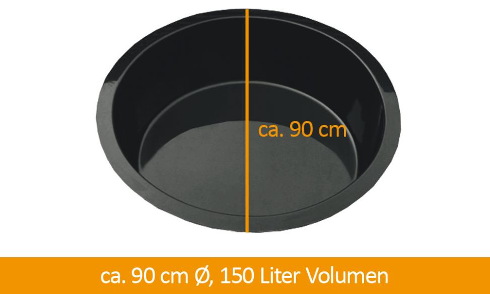 Fertigteich Durchmesser 90 cm