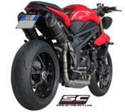 scarichi alti speed triple 2011 - high exhaust 2011 speed triple