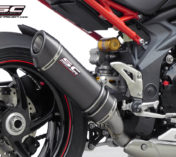 SILENCIEUX TRIUMPH SPEED TRIPLE MATT CARBON SC-PROJECT