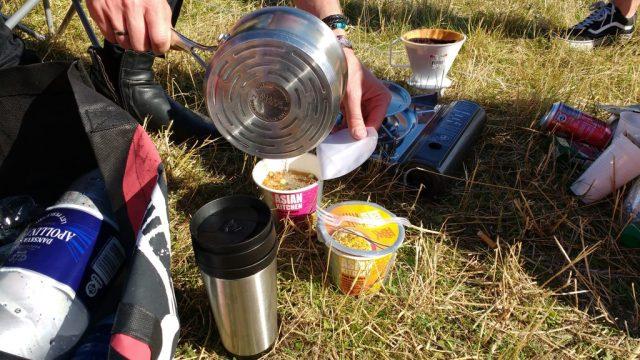 Nudler og kaffe