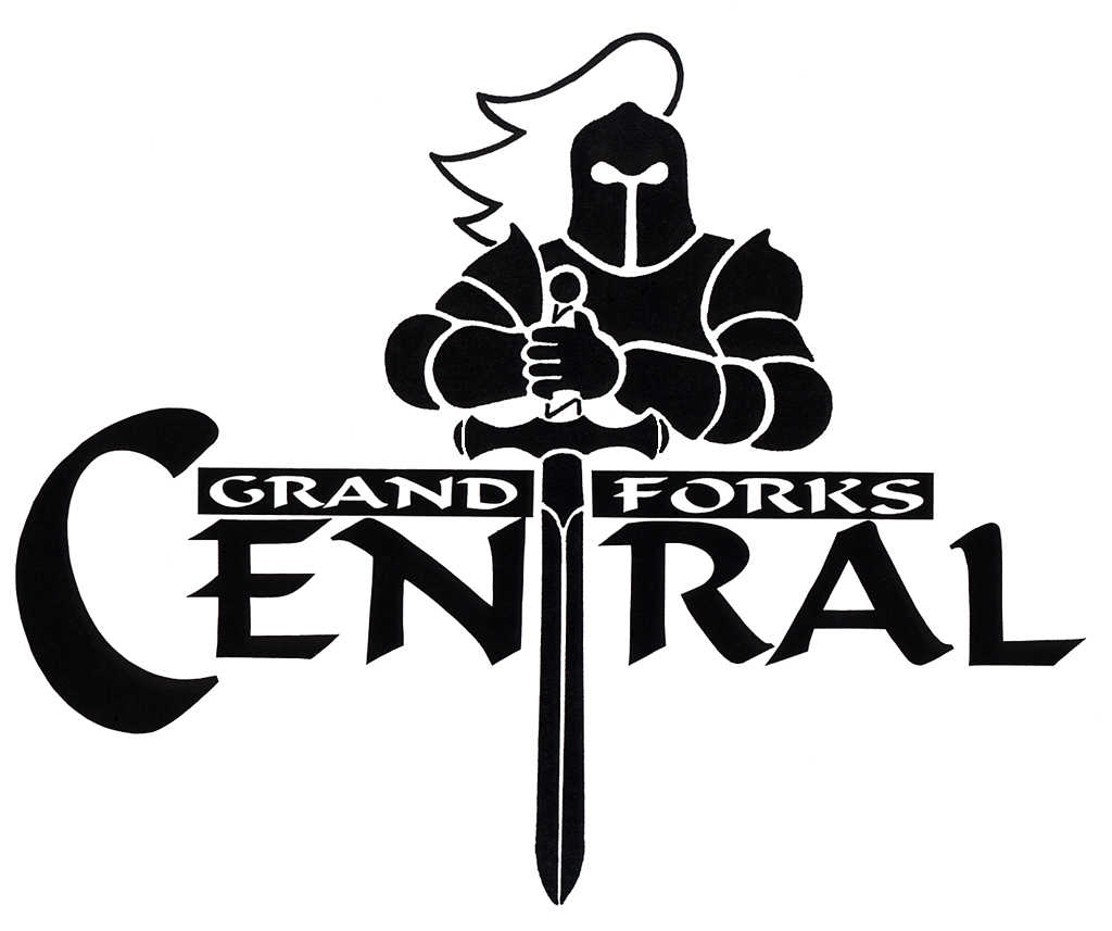 GFC Media Files & Logos / Large Knight with Sword BW Logo