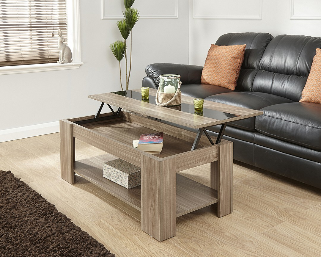 Lift Up Coffee Table Gloss Strip