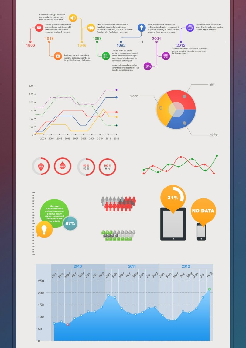 free infographic psd template free graphics