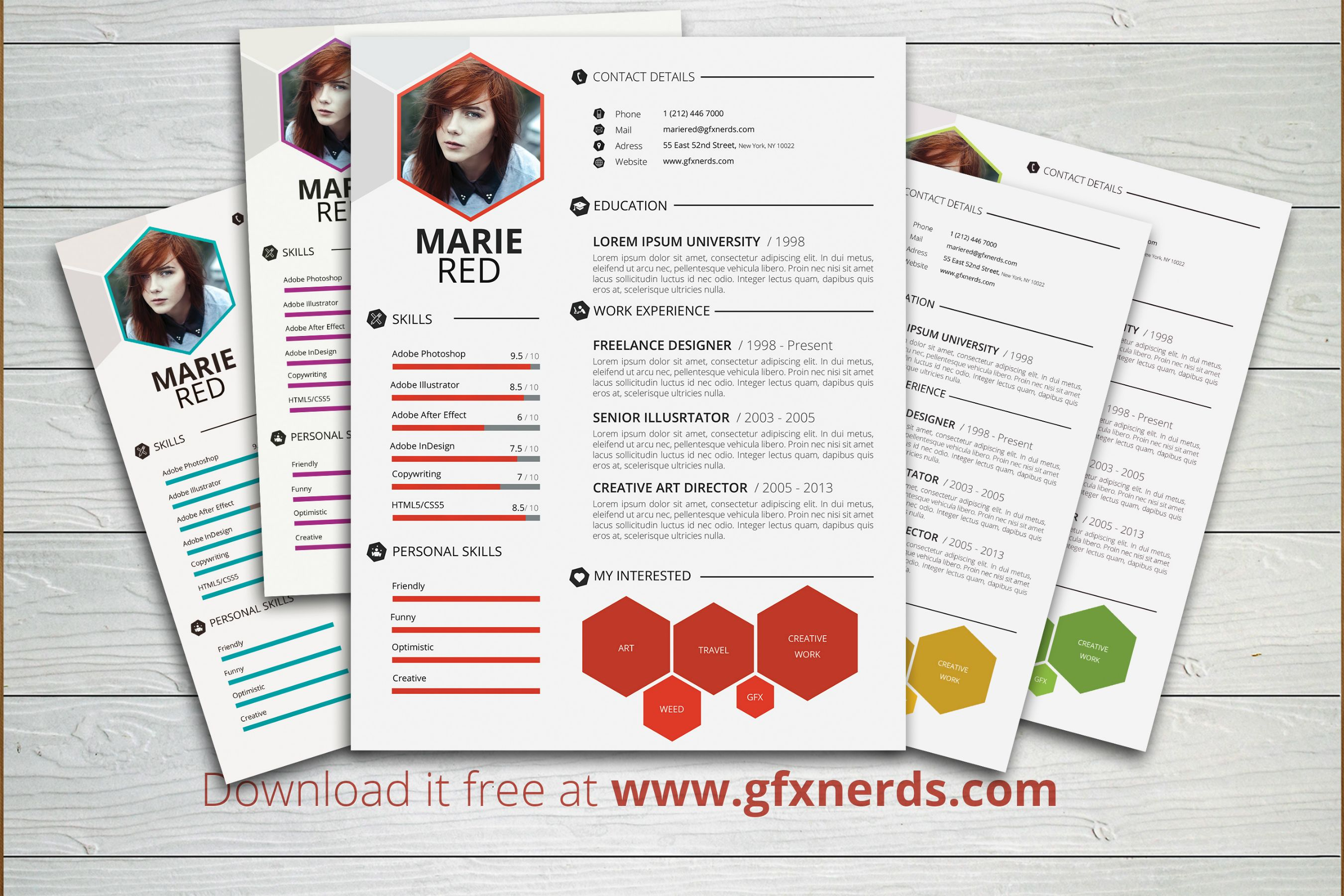 Clean professional resume template psd free graphics yelopaper