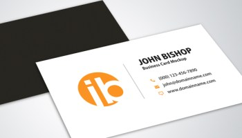 Modern business cards vector graphic free graphics modern simple business card mockup design reheart Gallery