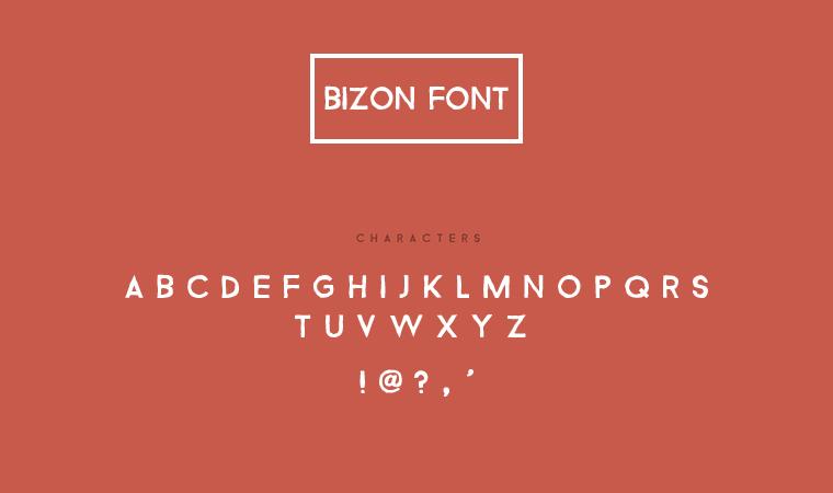 Download Bizon Font - Free Graphics