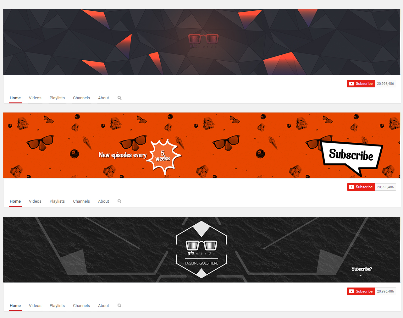 Youtube Banner Template Psd Free Graphics