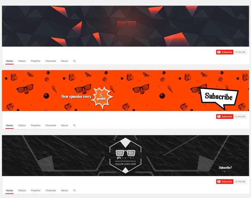 creative youtube banner