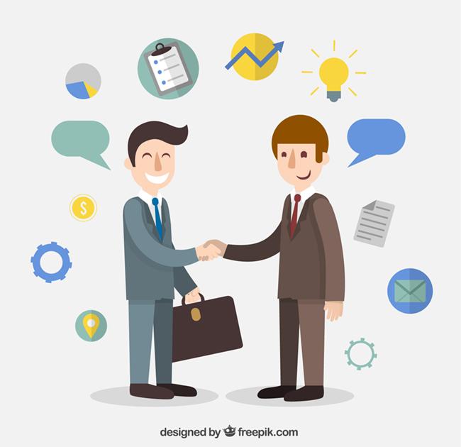 Businessman-agreement-cartoon
