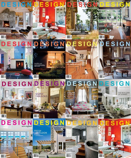 Design New England Magazine Collection 2008 - 2011