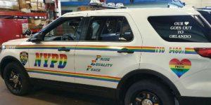 Regenbogen-Streifenwagen