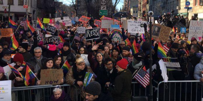 Protest vor dem Stonewall Inn