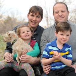 Jared Polls mit Familie