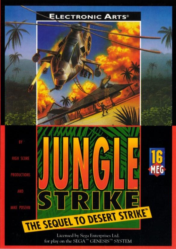 Jungle Strike mega drive box art