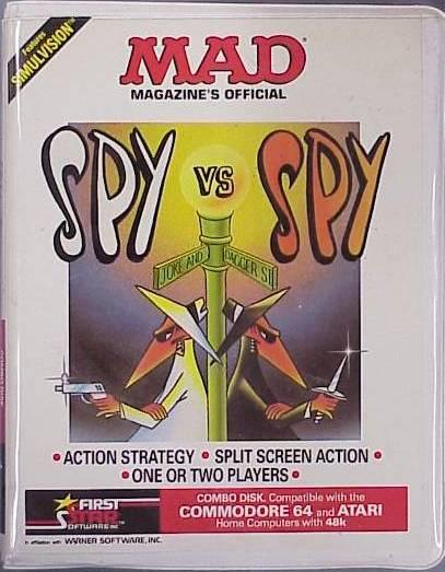 Spy vs. Spy c64 box art