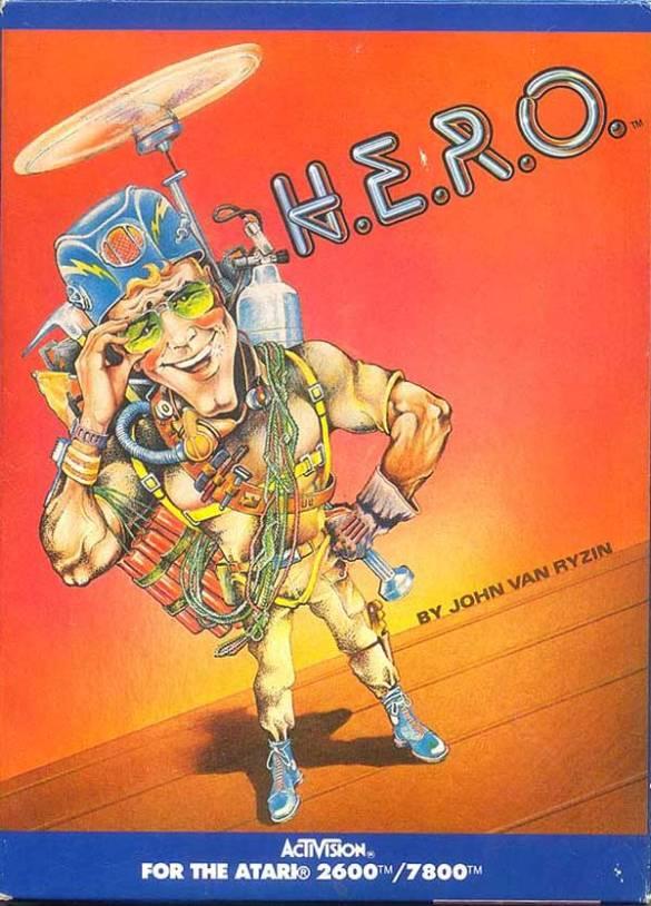 H.E.R.O. atari 2600 box art