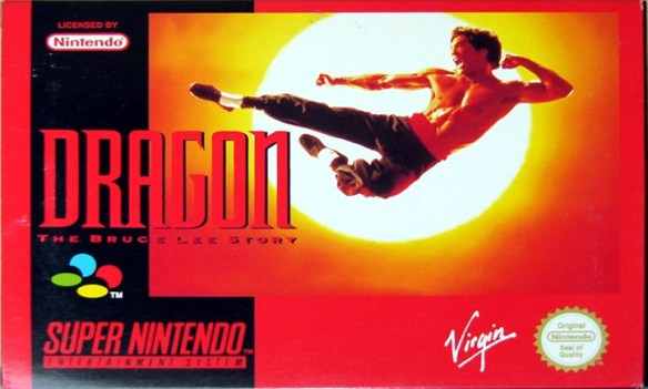 Dragon: The Bruce Lee Story SNES box art