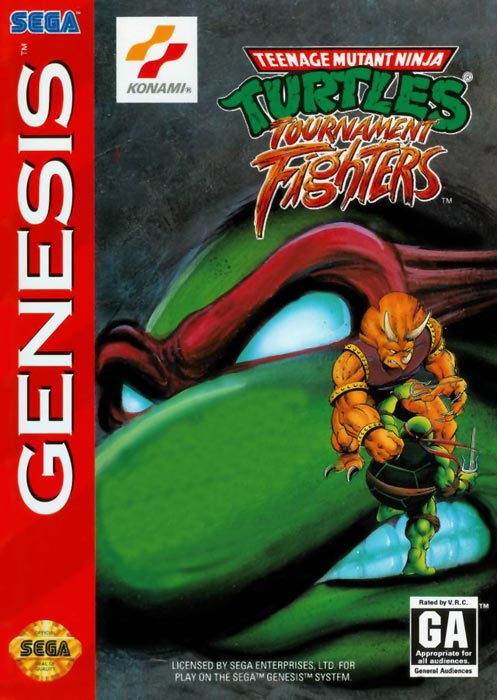 Teenage Mutant Ninja Turtles – Tournament Fighters MEGA DRIVE box art
