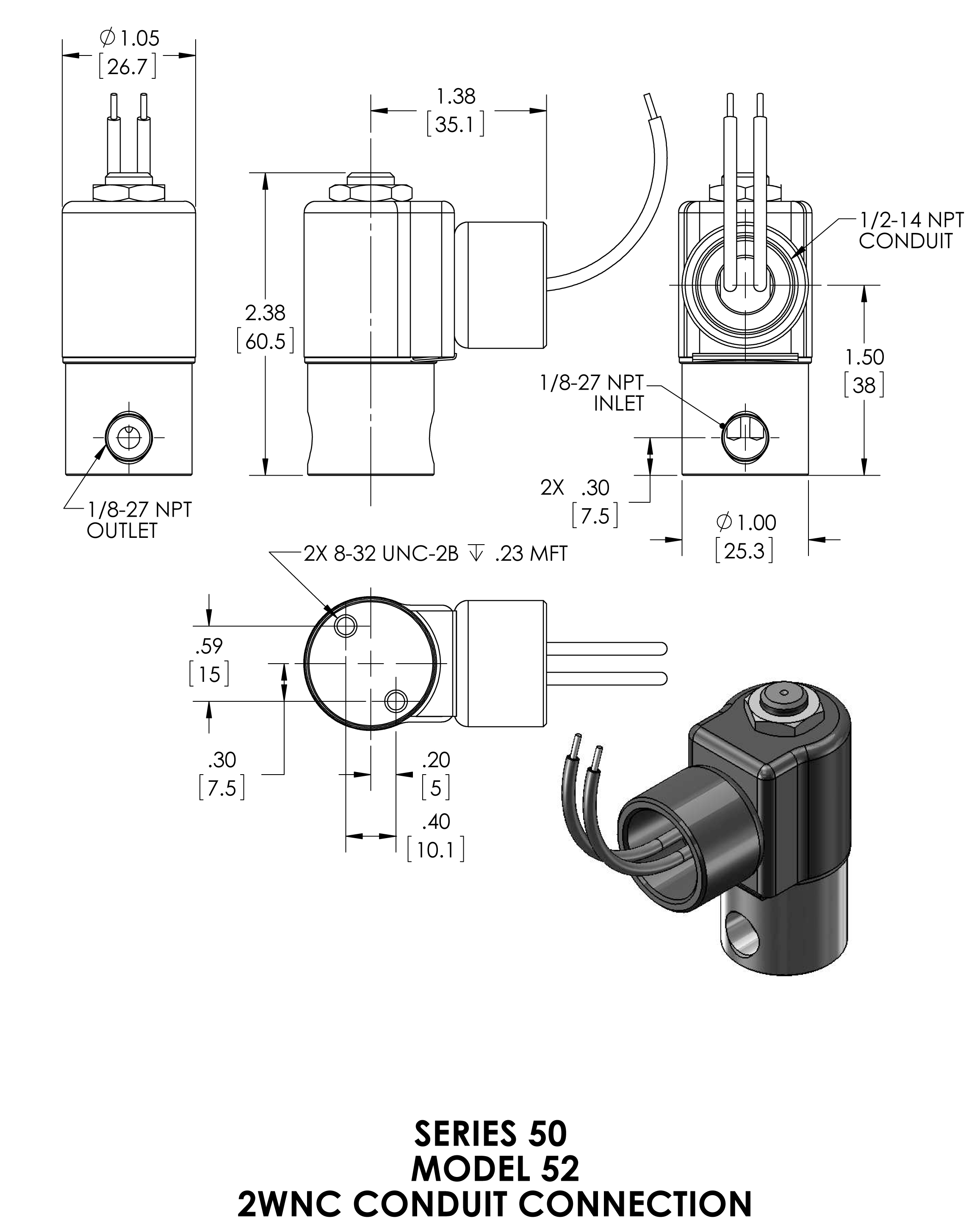 52h8dcb Peter Paul 2 Way Normally Closed Solenoid Valve 3