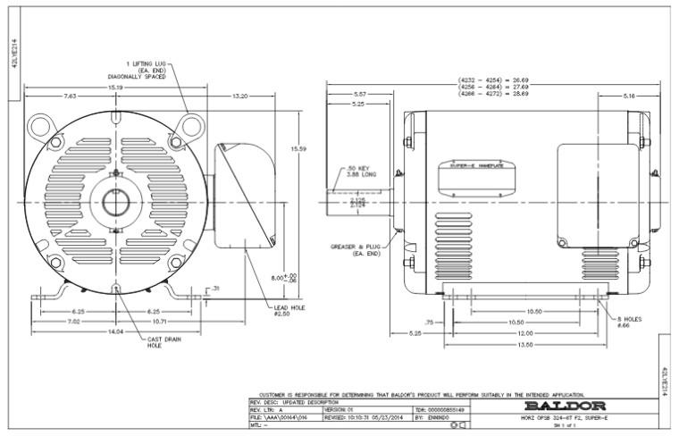 326t Motor Frame Dimensions Impremedia Net